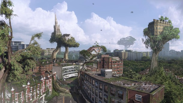 Treehood matte painting